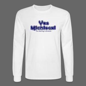 Yes Michigan! - Men's Long Sleeve T-Shirt