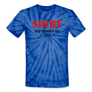 Official SOIBF 2013 Classic-cut tie dye t-shirt for both men and women - Unisex Tie Dye T-Shirt