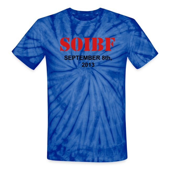 Official SOIBF 2013 Classic-cut tie dye t-shirt for both men and women