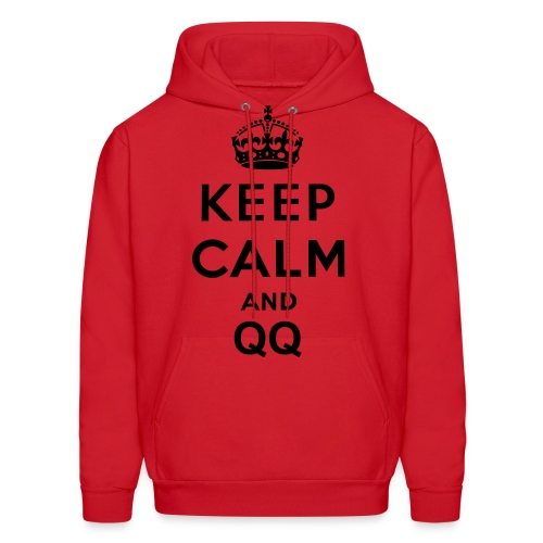 Keep Calm And QQ Men Hoodie - Men's Hoodie