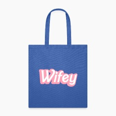 Wifey Wife woman in cute girly font Bags & backpacks
