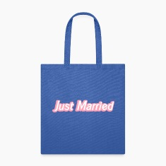 Just Married! cute recently married couples shirt Bags & backpacks