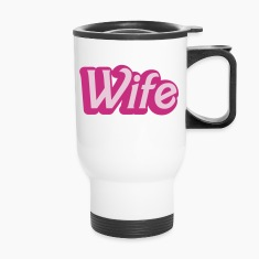 wife womanly ladies cute type Bottles & Mugs
