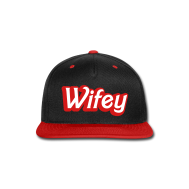 Wifey Wife woman in cute girly font Caps