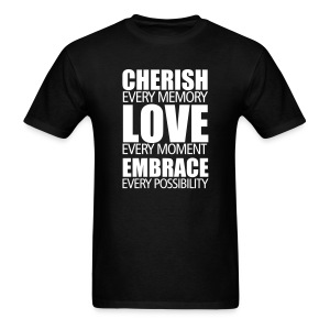 Cherish, Love, Embrace (male) - Men's T-Shirt