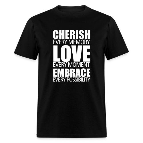 Cherish, Love, Embrace (male) - Men's T-Shirt