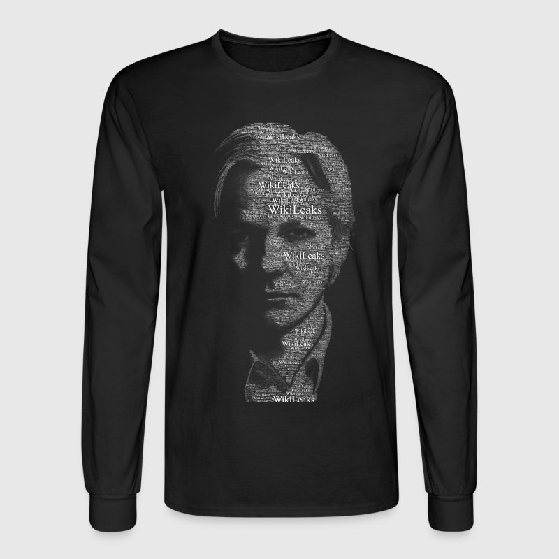 Wikileaks Typographical Assange  Long Sleeve Shirts - Men's Long Sleeve T-Shirt