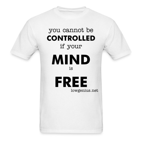 Free Mind - (men's basic black text) - Men's T-Shirt