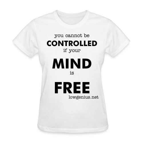 Free Mind - (women's basic black text) - Women's T-Shirt
