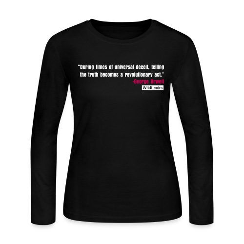 quote3_orig - Women's Long Sleeve Jersey T-Shirt
