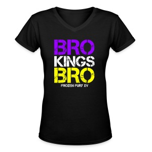 Bro! Kings! Bro! - Women's V-Neck T-Shirt