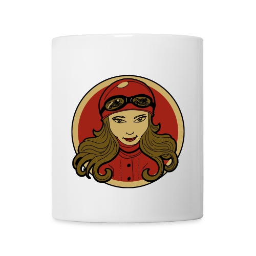 Sneeky Motorcycle Woman - Coffee/Tea Mug