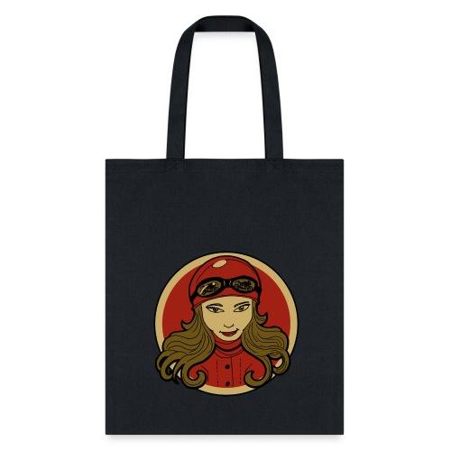 Sneeky Motorcycle Woman - Tote Bag