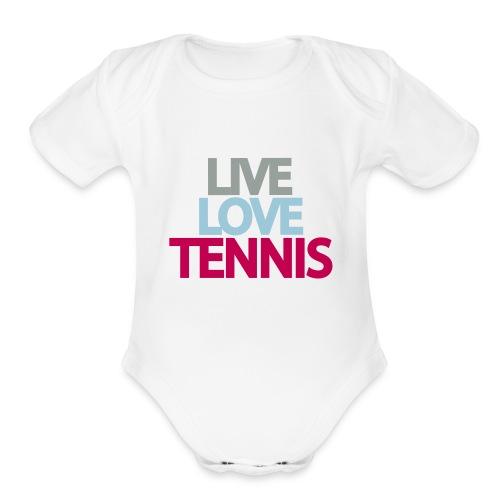 Live Love Tennis - Organic Short Sleeve Baby Bodysuit