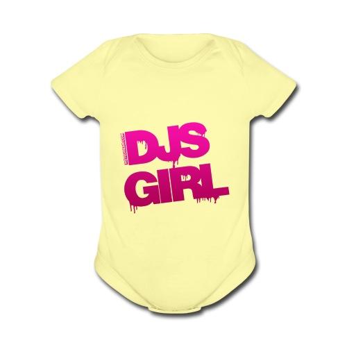 DJs Girl - Organic Short Sleeve Baby Bodysuit