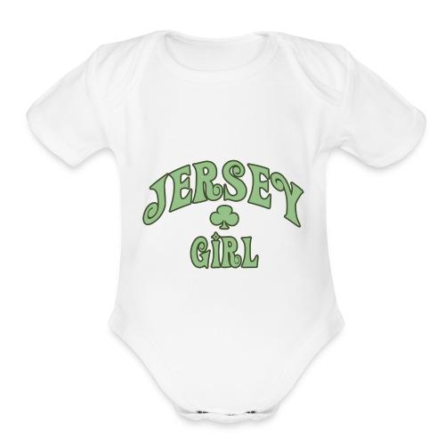 Jersey Girl (Irish) - Organic Short Sleeve Baby Bodysuit