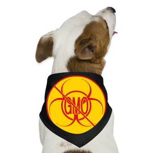 No GMO Dog Bandana No GMO Activism Bio-hazard Food Gifts - Dog Bandana