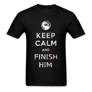 Keep Calm and Finish Him (Mens) - Men's T-Shirt