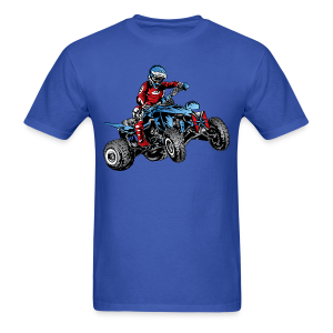 Blue Quad Rider - Men's T-Shirt