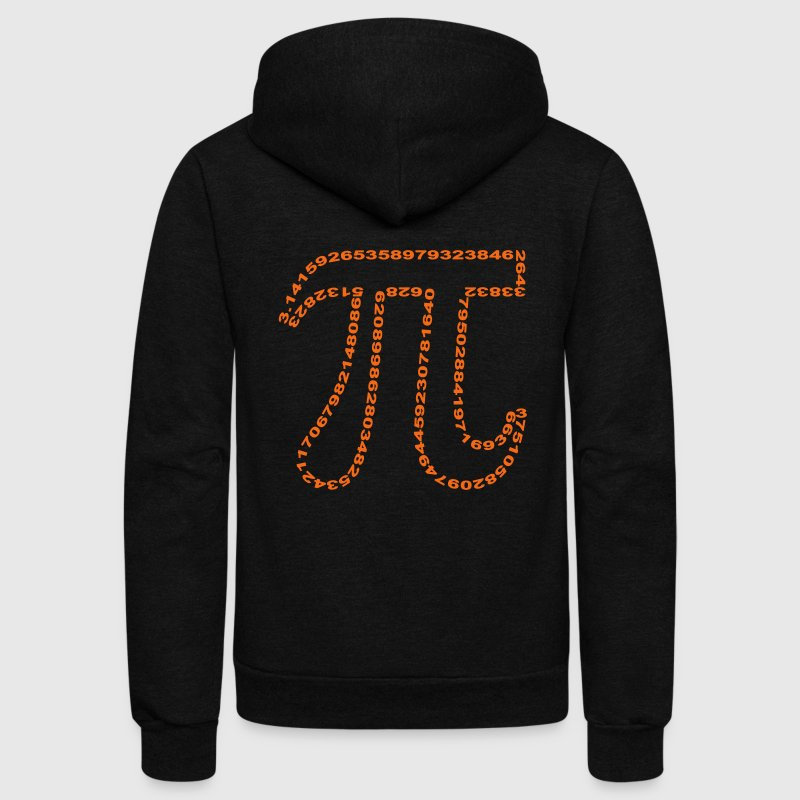 pi outline Zip Hoodies & Jackets - Unisex Fleece Zip Hoodie by American Apparel