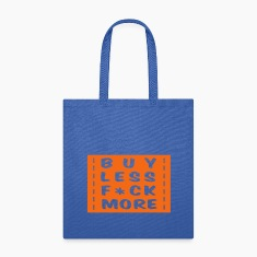 buy less fuck more 1 Bags & backpacks
