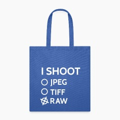 I shoot raw Bags & backpacks