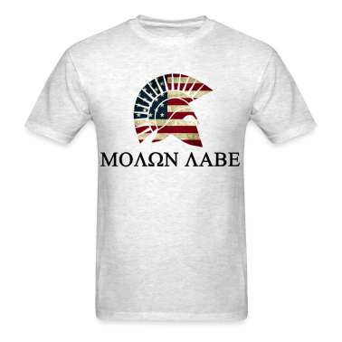Molon Labe Red white and Blue T-Shirts