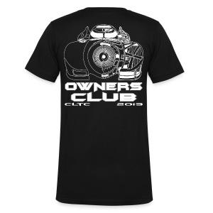 White Owners V-Neck Back Canvas - Men's V-Neck T-Shirt by Canvas