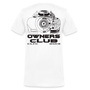 Black Owners V-Neck Back Canvas - Men's V-Neck T-Shirt by Canvas