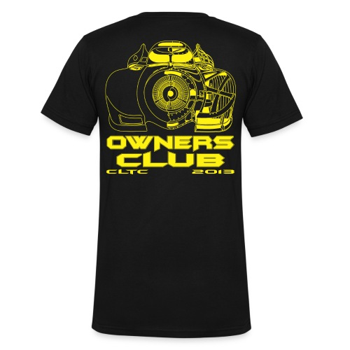 Yellow Owners V-Neck Back Canvas - Men's V-Neck T-Shirt by Canvas