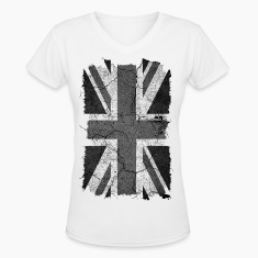 Grunge Monochrome Union Jack UK Flag