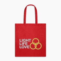 Light, Life, Love with Rings Bags & backpacks