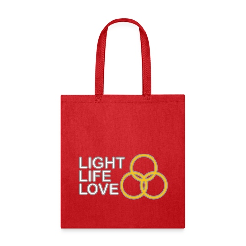 Light, Life, Love with Rings - Tote Bag