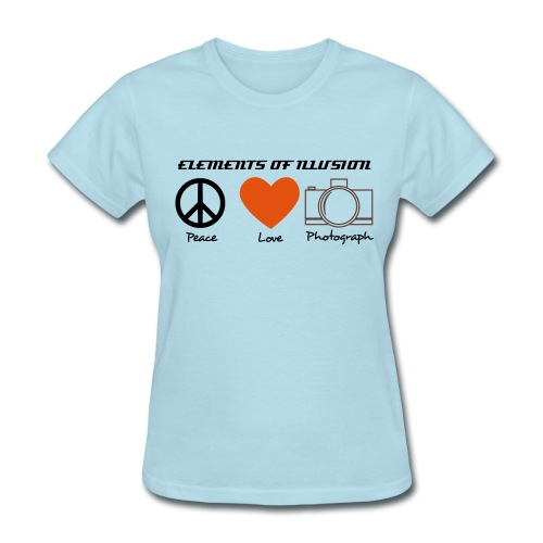 peace love photo 2 W - Women's T-Shirt