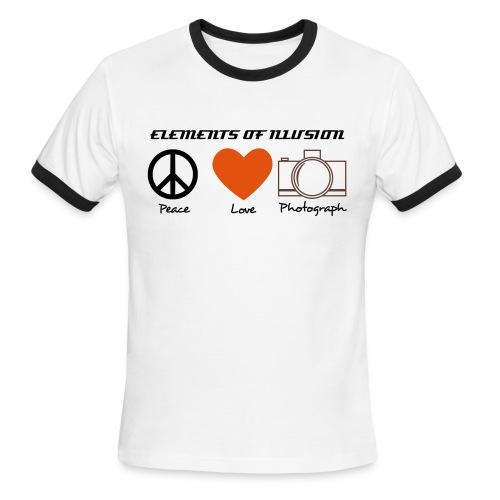 peace love photo - Men's Ringer T-Shirt
