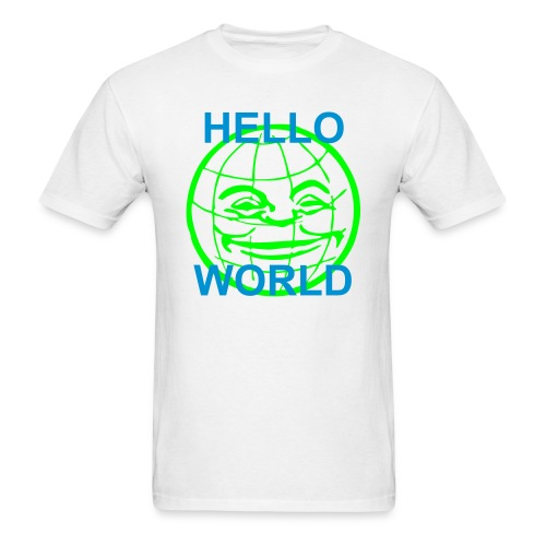 Hello World 2.0 white - Men's T-Shirt
