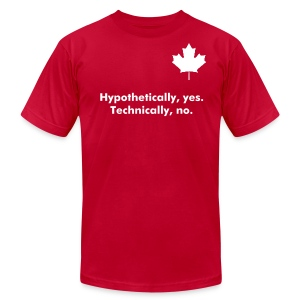Hypothetically - Men's AA - Men's T-Shirt by American Apparel