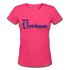 Old E Dutchman (blue) - Women's V-Neck T-Shirt