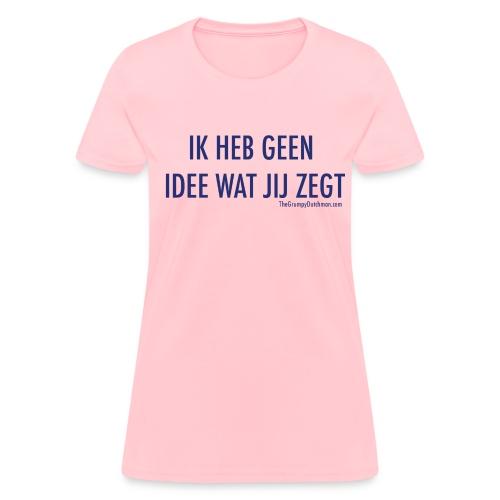 Translation (blue) - Women's T-Shirt