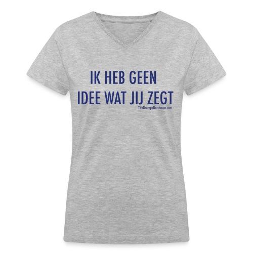 Translation (blue) - Women's V-Neck T-Shirt