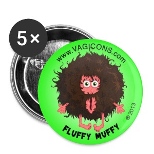 Fluffy Muffy: Fro Retro YAOWZA! - Small Buttons
