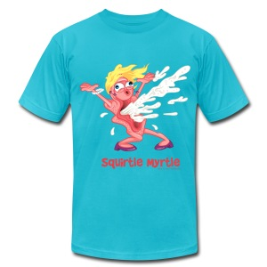 Squirtle Myrtle:  Wet Her Whistle! - Men's T-Shirt by American Apparel