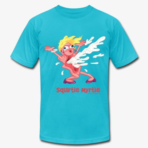 Squirtle Myrtle:  Wet Her Whistle! - Men's Fine Jersey T-Shirt