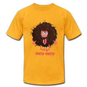 Fluffy Muffy:  Very Retro Fro - Men's T-Shirt by American Apparel