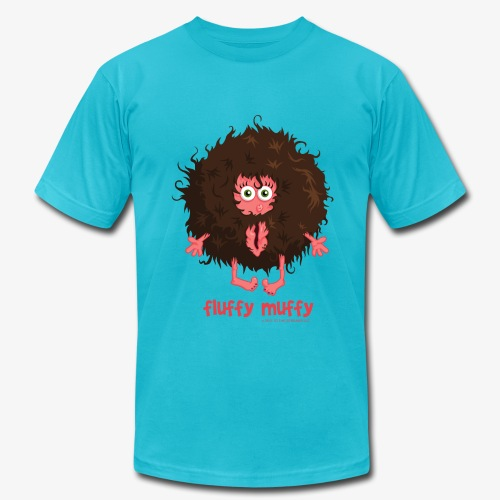 Fluffy Muffy:  Very Retro Fro - Men's Fine Jersey T-Shirt