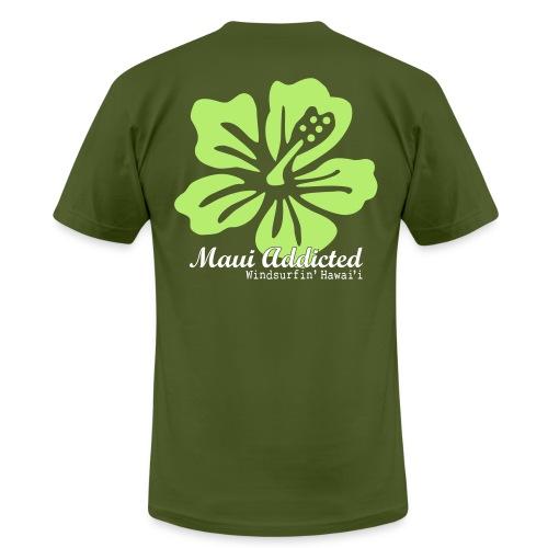 Light Green Hibiscus  - Men's Fine Jersey T-Shirt