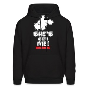 She's with me loving it Together - Men's Hoodie