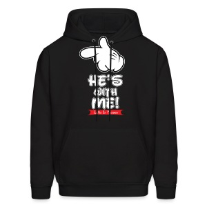 He's with me loving it Together - Men's Hoodie