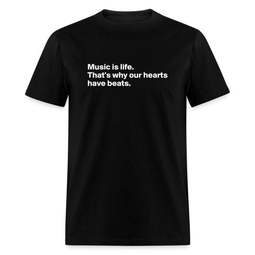 MeMyselfAnd..I // Music is life - Men's T-Shirt