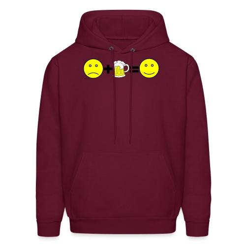 Beer: Liquid Happiness Men's Hooded Sweatshirt - Men's Hoodie